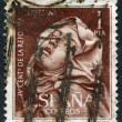 SPAIN - CIRCA 1962: A stamp printed in the Spain, shows The Ecstasy of Saint Teresa, the author of Gian Lorenzo Bernini, circa 1962 - Stock Photo