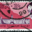 SOUTH AFRICA - CIRCA 1969: A stamp printed in South Africa (RSA), is dedicated to the 47 th Medical Congress and the first heart transplant by Professor, Dr. Christi — Stock Photo