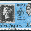 RHODESIA - CIRCA 1966: A stamp printed in the Rhodesia, is dedicated to the 28 th anniversary of the South African Philatelic Congress, circa 1966 - Stock Photo
