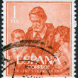 SPAIN - CIRCA 1960: A stamp printed in Spain — Foto de Stock