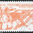NICARAGUA - CIRCA 1983: Postage stamps printed in Nicaragua — Stock Photo #12363613