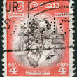 Stock Photo: CEYLON - CIRC1950: stamp printed in Ceylon, Kandydance, circ1950
