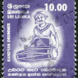 SRI LANKA - CIRCA 2001: A stamp printed in the Sri Lanka - Stock Photo