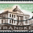 SOUTH AFRICA-CIRCA 1963: A stamp printed in the South Africa, depicts Transkei Legislative Assembly, circa 1963 - Stock Photo
