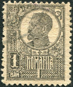ROMANIA - CIRCA 1920: A stamp printed in the Romania, shows the King of Romania, Ferdinand I, circa 1920 — Stock Photo