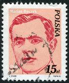 POLAND - CIRCA 1982: A stamp printed in the Poland, the portrait of Marian Buczek, circa 1982 — Stock Photo