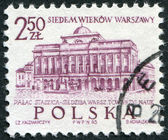 POLAND - CIRCA 1965: A stamp printed in the Poland, dedicated to the 700th anniversary of Warsaw — Stok fotoğraf
