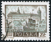POLAND - CIRCA 1960: A stamp printed in the Poland — Stock Photo