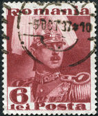 ROMANIA - CIRCA 1935: A stamp printed in the Romania, shows the King of Romania, Carol II, circa 1935 — Stock Photo
