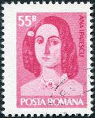 Rumania - alrededor de 1975: un sello impreso en la Rumania, dedicada al centésimo aniversario de la muerte de ana ipatescu, alrededor de 1975 — Foto de Stock