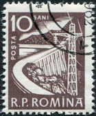 ROMANIA - CIRCA 1960: A stamp printed in the Romania, depicts Dam, circa 1960 — Stock Photo