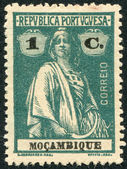 PORTUGAL - CIRCA 1912: A stamp printed in the Portugal, depicts ancient Roman goddess of fertility, Ceres (overprint Mozambique in 1913), circa 1912 — Stock Photo