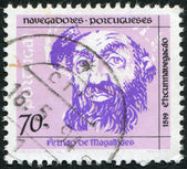 PORTUGAL - CIRCA 1993: A stamp printed in the Portugal, depicts Ferdinand Magellan, circa 1993 — Foto de Stock