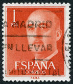 SPAIN-CIRCA 1954: A stamp printed in the Spain — Stock Photo