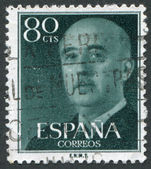 SPAIN-CIRCA 1954: A stamp printed in the Spain — Stockfoto
