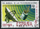 SPAIN-CIRCA 1979: A stamp printed in the Spain, dedicated to the World Telecommunications Day, May 17, circa 1979 — Stock Photo