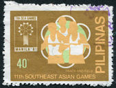 PHILIPPINES - CIRCA 1981: A stamp printed in the Philippines, is dedicated XI Southeast Asian Games, circa 1981 — Stock Photo