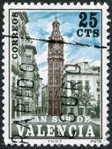 SPAIN (VALENCIA) - CIRCA 1978: A stamp printed in Spain (Valencia), shows the Church of Santa Catalina, circa 1978 — Foto Stock