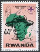 RWANDA - CIRCA 1978: A stamp printed in the Rwanda — Stock Photo