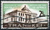 SOUTH AFRICA-CIRCA 1963: A stamp printed in the South Africa, depicts Transkei Legislative Assembly, circa 1963 — Stock Photo