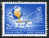 SOUTH AFRICA-CIRCA 1961: A stamp printed in the South Africa — Foto Stock