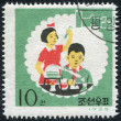 "NORTH KOREA - CIRCA 1966: A stamp printed in North Korea, is dedicated to the 20th anniversary of the organization ""Young Pioneers"", circa 1966 — Stock Photo"