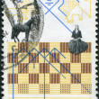 NETHERLANDS - CIRCA 1978: A stamp printed in the Netherlands, dedicated to the IBM chess tournament in Amsterdam, shows a Chess Board and Move Diagram, circa 1978 — Stock Photo #12427744
