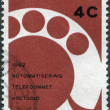 Stock Photo: NETHERLANDS - CIRC1962: stamp printed in Netherlands, dedicated to Completion of automation of Netherlands telephone network, shows Telephone D