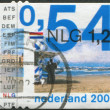NETHERLANDS - CIRCA 2001: A stamp printed in the Netherlands, shows a Coast at Zandvoort, circa 2001 — Stock Photo