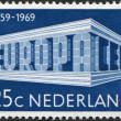 NETHERLANDS - CIRCA 1969: A stamp printed in the Netherlands, shows EUROPA an CEPT in the form of the temple, circa 1969 — Stock Photo