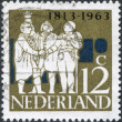 NETHERLANDS - CIRCA 1963: A stamp printed in the Netherlands, dedicated to the 150th anniversary of the founding of the Kingdom of the Netherlands, shows a G. K. van - Stock Photo