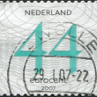Stock Photo: NETHERLANDS - CIRC2007: stamp printed in Netherlands, shows value of postage stamp, circ2007