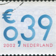 Stock Photo: NETHERLANDS - CIRC2002: stamp printed in Netherlands, shows value of postage stamp, circ2002