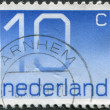 Stock Photo: NETHERLANDS - CIRC1976: stamp printed in Netherlands, shows value of postage stamp, circ1976