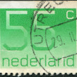 Stock Photo: NETHERLANDS - CIRC1981: stamp printed in Netherlands, shows value of postage stamp, circ1981