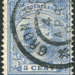 NETHERLANDS - CIRCA 1894: A stamp printed in the Netherlands, shows Princess Wilhelmina, in the future for, Queen of the Netherlands, circa 1894 — Stock Photo