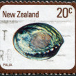 NEW ZEALAND - CIRCA 1978: A stamp printed in New Zealand, shows the molluscs Paua (Haliotis Iris), circa 1978 — Stock Photo