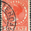 NETHERLANDS - CIRCA 1924: A stamp printed in the Netherlands, shows Wilhelmina of the Netherlands, circa 1924 — Stock Photo