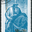KYRGYZSTAN-CIRCA 1995: A stamp printed in the Kyrgyz Republic, shows the Epic of Manas, circa 1995 - Stock Photo