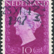 NETHERLANDS - CIRCA 1923: A stamp printed in the Netherlands, shows Wilhelmina of the Netherlands, circa 1923 — Stock Photo