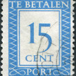 Stock Photo: NETHERLANDS - CIRC1947: stamp printed in Netherlands, shows value of postage stamp, circ1947