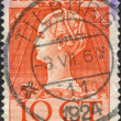 Stock Photo: NETHERLANDS - CIRC1923: stamp printed in Netherlands, shows Wilhelminof Netherlands, circ1923