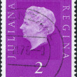 NETHERLANDS - CIRCA 1954: A stamp printed in the Netherlands, shows Juliana of the Netherlands, circa 1954 — Stock Photo