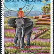 LAOS-CIRCA 1983: A stamp printed in the Laos — Stock Photo