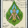LAOS-CIRCA 1984: A stamp printed in the Laos, depicts a deity, circa 1984 — Stock Photo