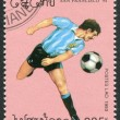 LAOS-CIRCA 1993: A stamp printed in the Laos, is dedicated to World Cup Soccer Championships, USA, circa 1993 — Stock Photo