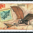 KAMPUCHEA-CIRCA 1987: A stamp printed in the Cambodia — Foto de Stock