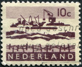 NETHERLANDS - CIRCA 1963: A stamp printed in the Netherlands — Stock Photo
