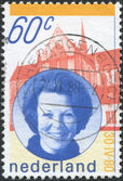 NETHERLANDS - CIRCA 1980: A stamp printed in the Netherlands, shows Queen Beatrix, circa 1980 — Stock Photo