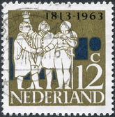 NETHERLANDS - CIRCA 1963: A stamp printed in the Netherlands, dedicated to the 150th anniversary of the founding of the Kingdom of the Netherlands, shows a G. K. van — Stock Photo